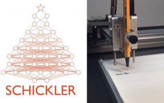 Weihnachtskarten Schreibroboter