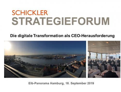 CEO-Talk mit Elbpanorama – das jährliche SCHICKLER Strategieforum 2019 war ein voller Erfolg