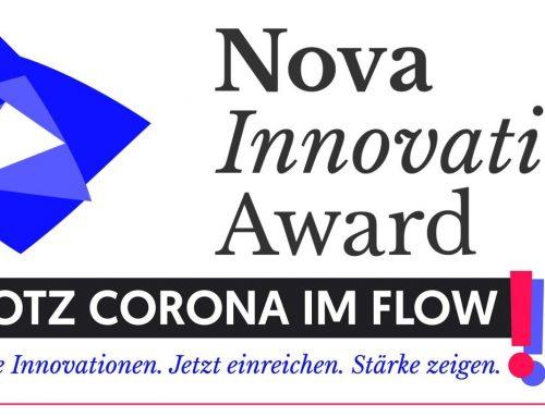 Nova Innovation Award 2020: Bewerbungsfrist für den Innovationspreis bis 12. Juni verlängert!