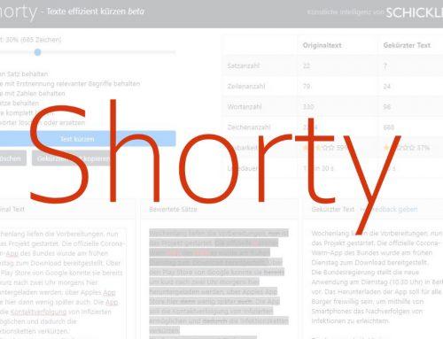SCHICKLER Shorty – Texte mit Künstlicher Intelligenz effizient kürzen